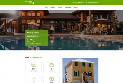 Property Info - Real Estate HTML Website Template