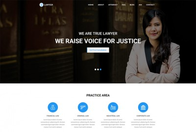 Lawyer HTML Website Template